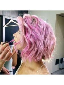 розовый цвет волос, перламутровый цвет