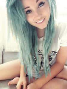 девочка с голубыми волосами, тамблер герл