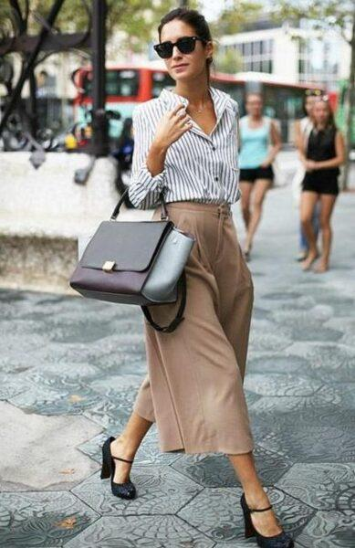 how to wear culottes in summer