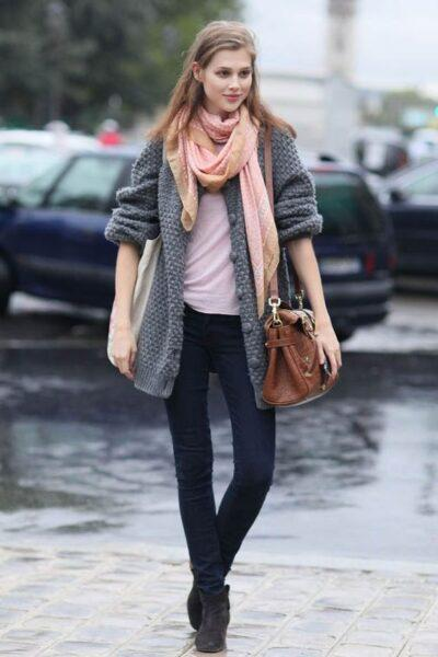 66044320c8e Gray Cardigan Outfits  Trend Tips