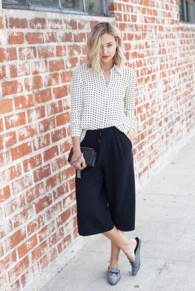 culottes with shirts