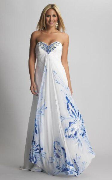 butterfly evening dress