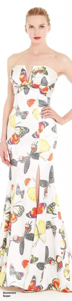 butterflies print dress