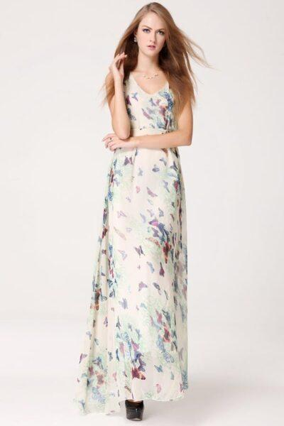 long butterfly dress