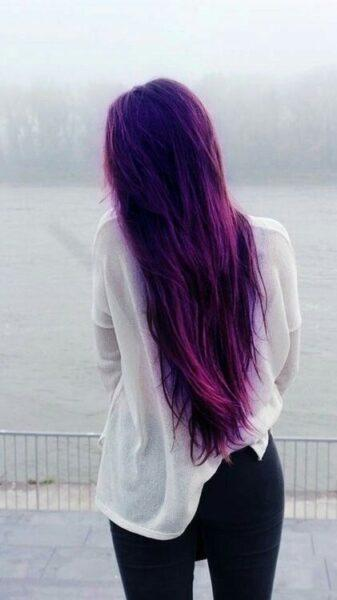 dark lavender hair