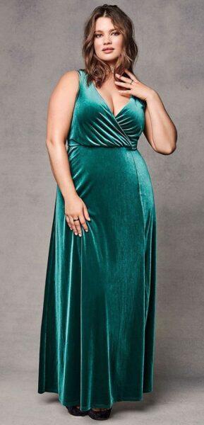 cdb6619b5a8e7 Velvet Dresses Plus Size for Stylish Women | KSISTYLE!