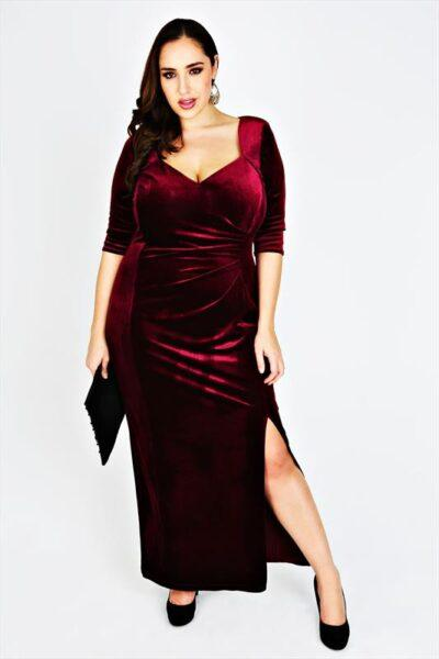 velvet dress plus size