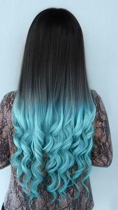 blue hair tips