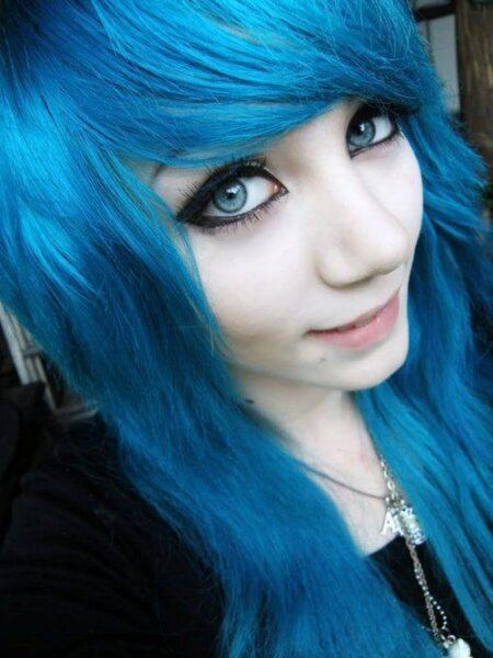blue hair color