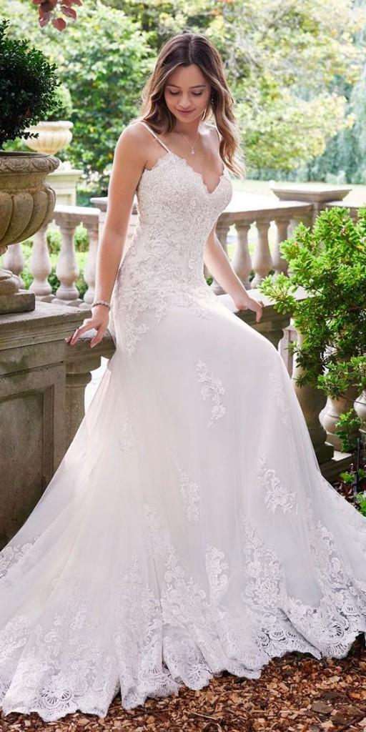 white wedding lace dress