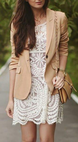 white lace dress outfit