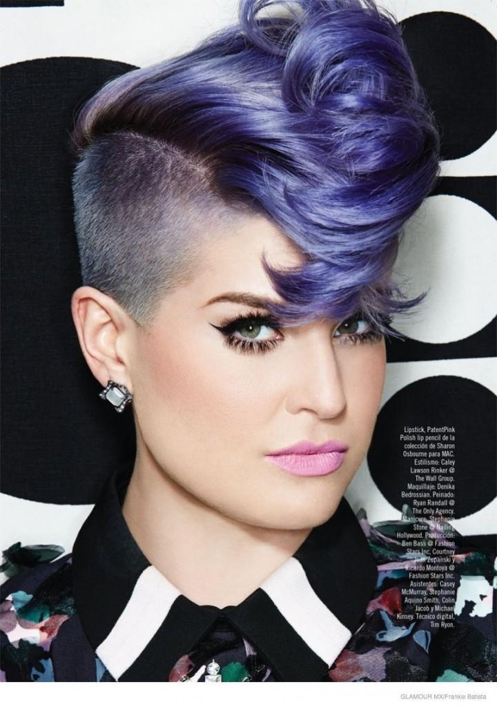 Kelly Osbourne lavender hair
