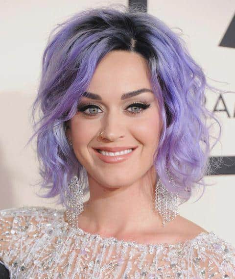 Katy-Perry lavender hair