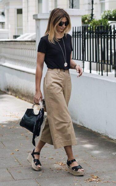 culottes with espadrilles