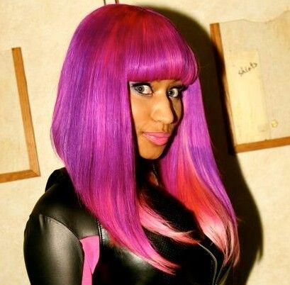 Nicki Minaj color-hair