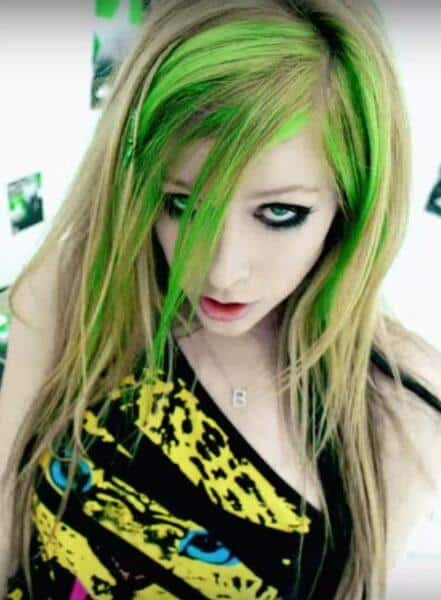 avril_lavigne color-hair