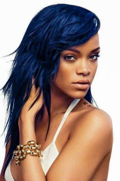 Rihanna blue hair