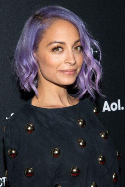 Nicole Richie lavender hair