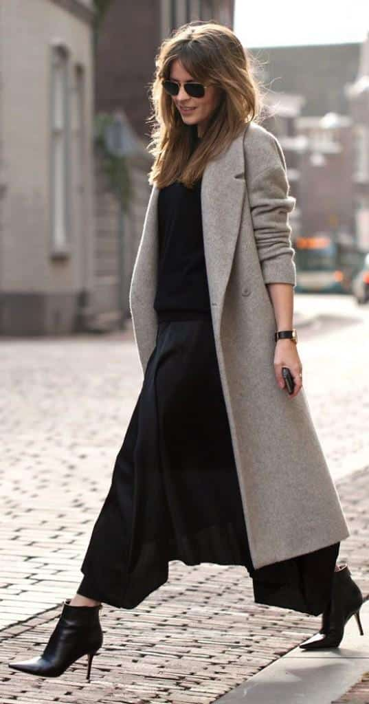 culottes with coat