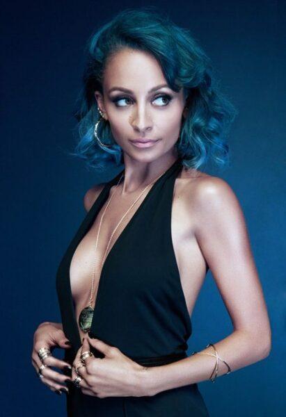 Nicole Richie blue hair