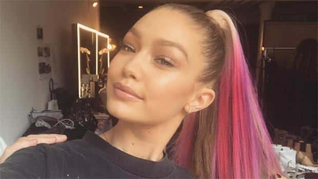 Gigi Hadid color-hair