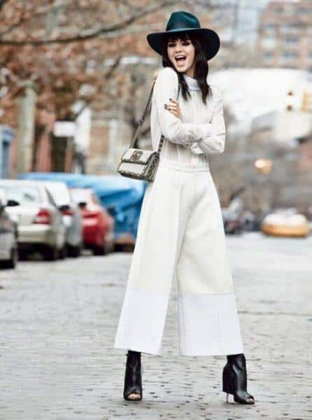 Culottes with boots