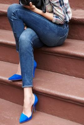 blue shoes women