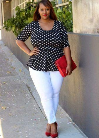 White jeans for plump women