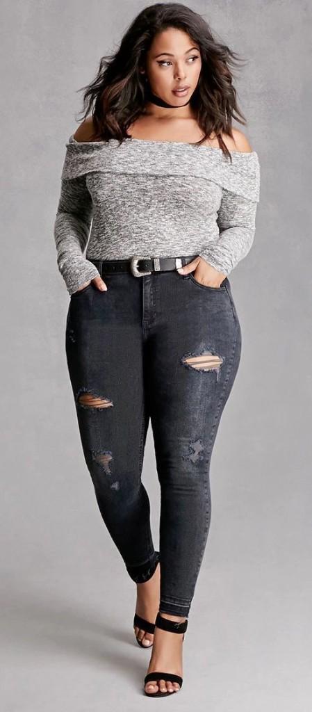 Black jeans for plus size women