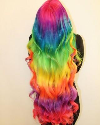 rainbow hair girl