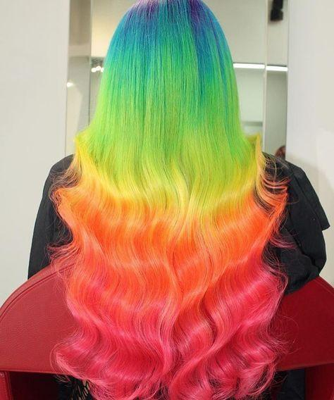 rainbow hair ombre