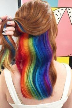 Hidden rainbow in the hair