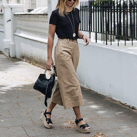 Espadrilles with culottes