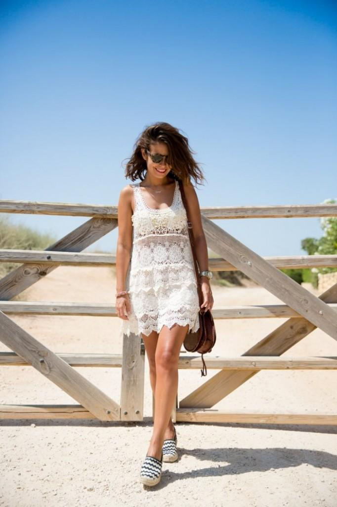 Espadrilles with lace dresses