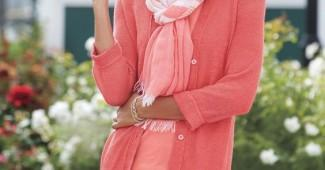how to wear coral cardigan