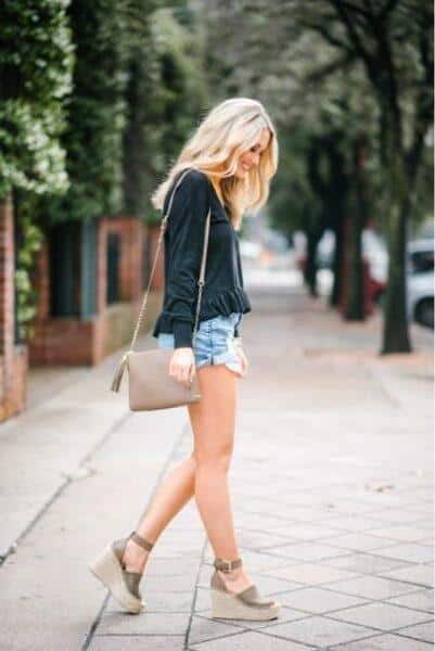 Espadrilles with shorts
