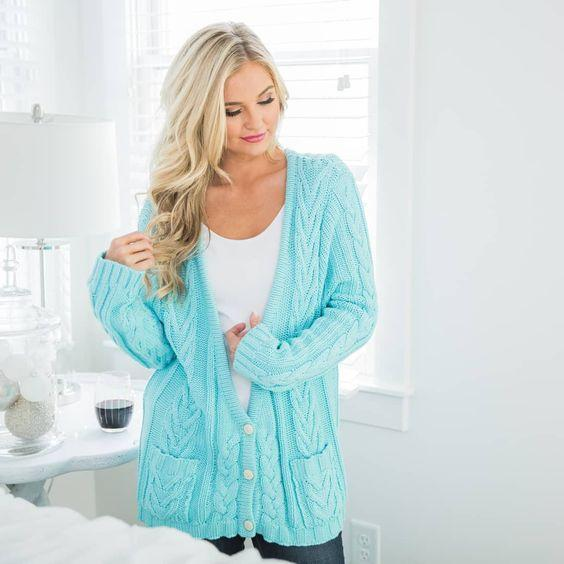 What to wear mint cardigan with