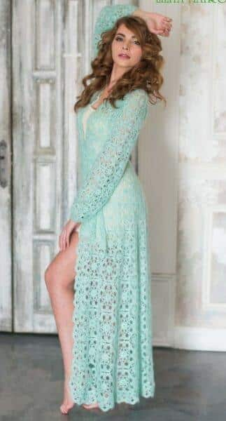 lace green mint cardigan
