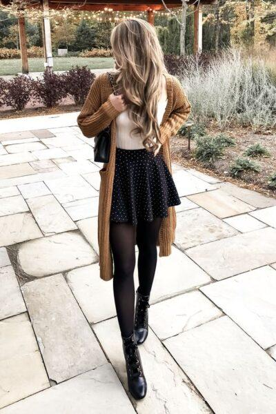 Cardigan with skirt how to wear