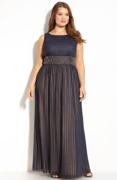 Long dresses for plump women