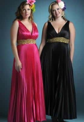 Long dresses for plump women