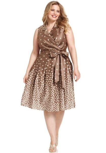 polka dots dress plus size