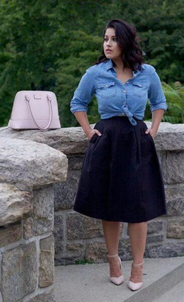 A-line skirt to hide the belly