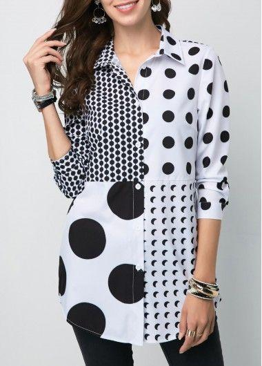 polka dots of different sizes