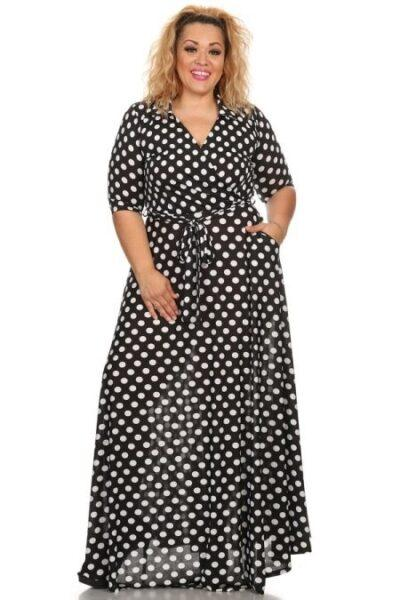 Polka- dot calico dresses