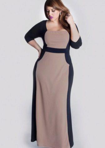long dresses for plump woman
