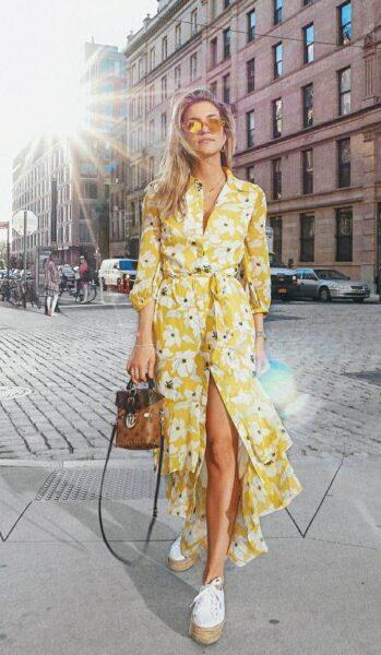 Long Dress with Sneakers: the Rules of the Perfect Image