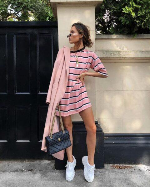 sneakers with dress