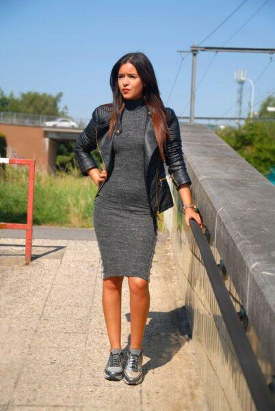 How To Wear A Dress With Sneakers To Look Stylish Ksistyle
