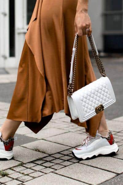 dress with sneakers outfit